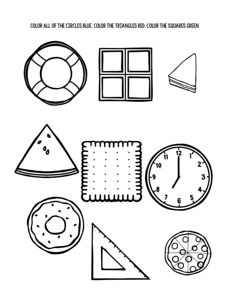 Shape Recognition Worksheet for Children with Autism 3