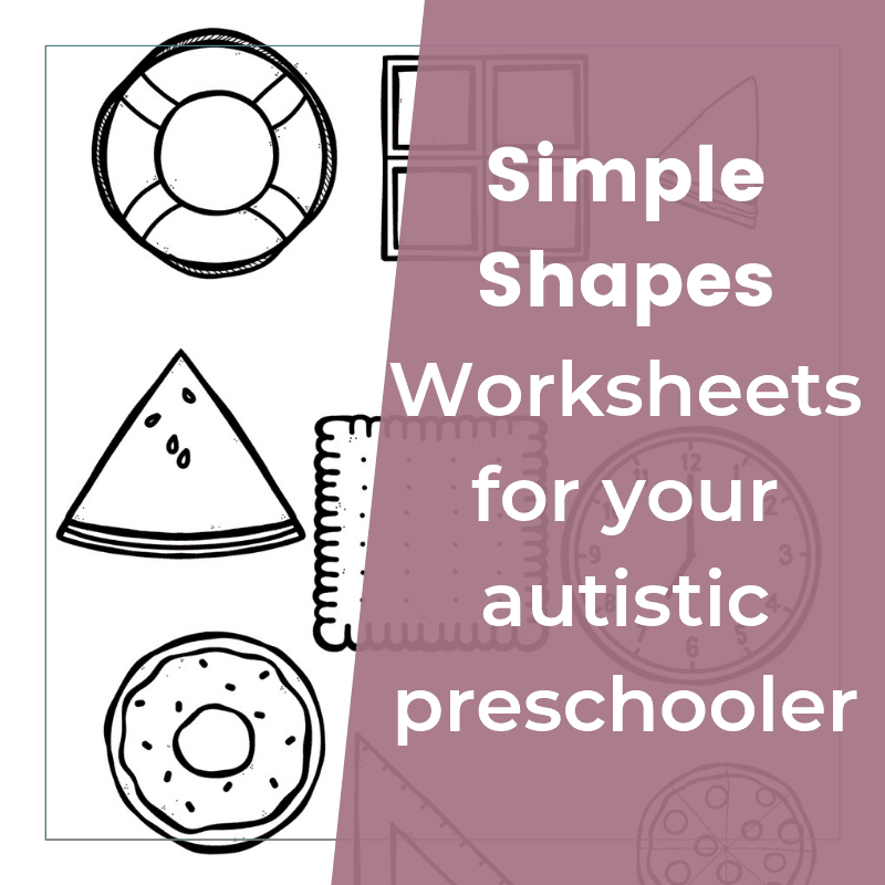 Shape Recognition Worksheet for Children with Autism 2