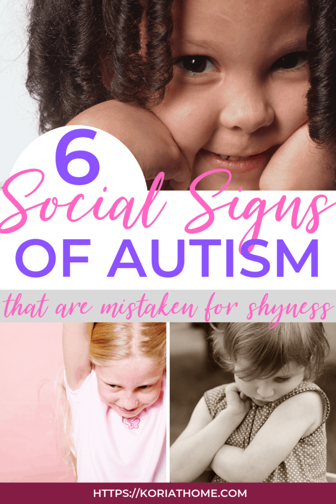 Is my child autistic or just shy? Looking for social signs of autism 1