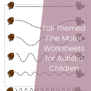 Free Printable Fall Themed Fine Motor Worksheets for Preschoolers 14