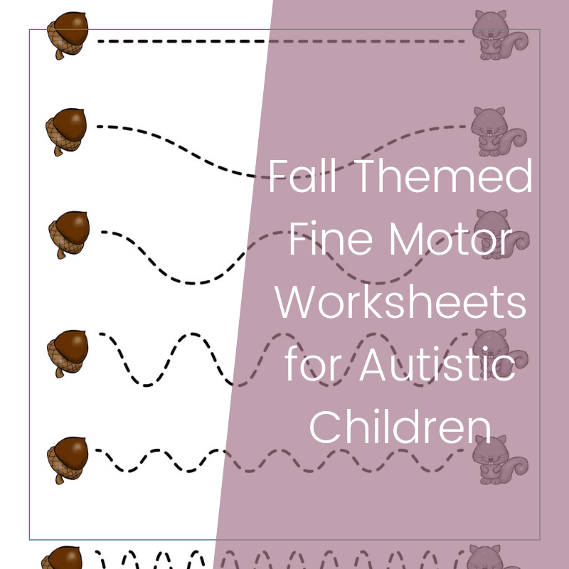 Free Printable Fall Themed Fine Motor Worksheets for Preschoolers 2