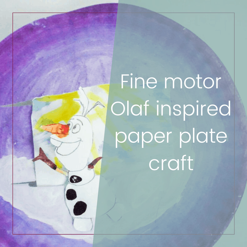 Easy and Cute Olaf Paper Plate Craft for Kids