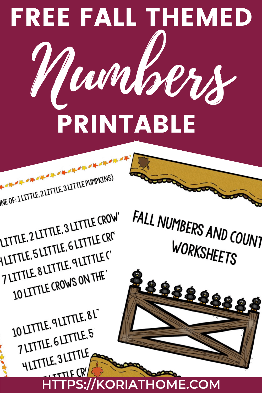 Fall Themed Numbers and Counting Worksheets for Autism 1