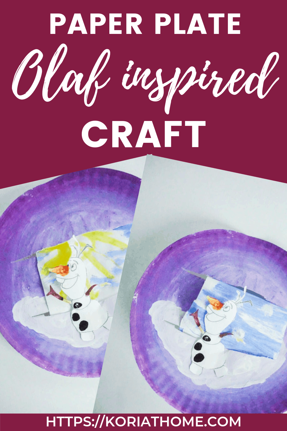 Easy and Cute Olaf Paper Plate Craft for Kids 1