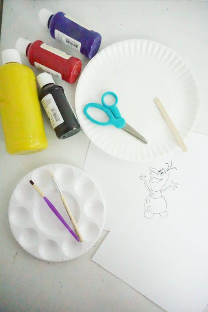 Easy and Cute Olaf Paper Plate Craft for Kids 3