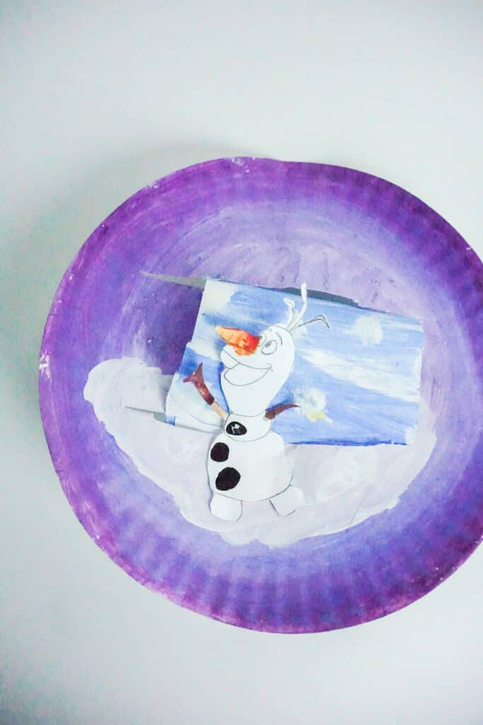 Easy and Cute Olaf Paper Plate Craft for Kids 11