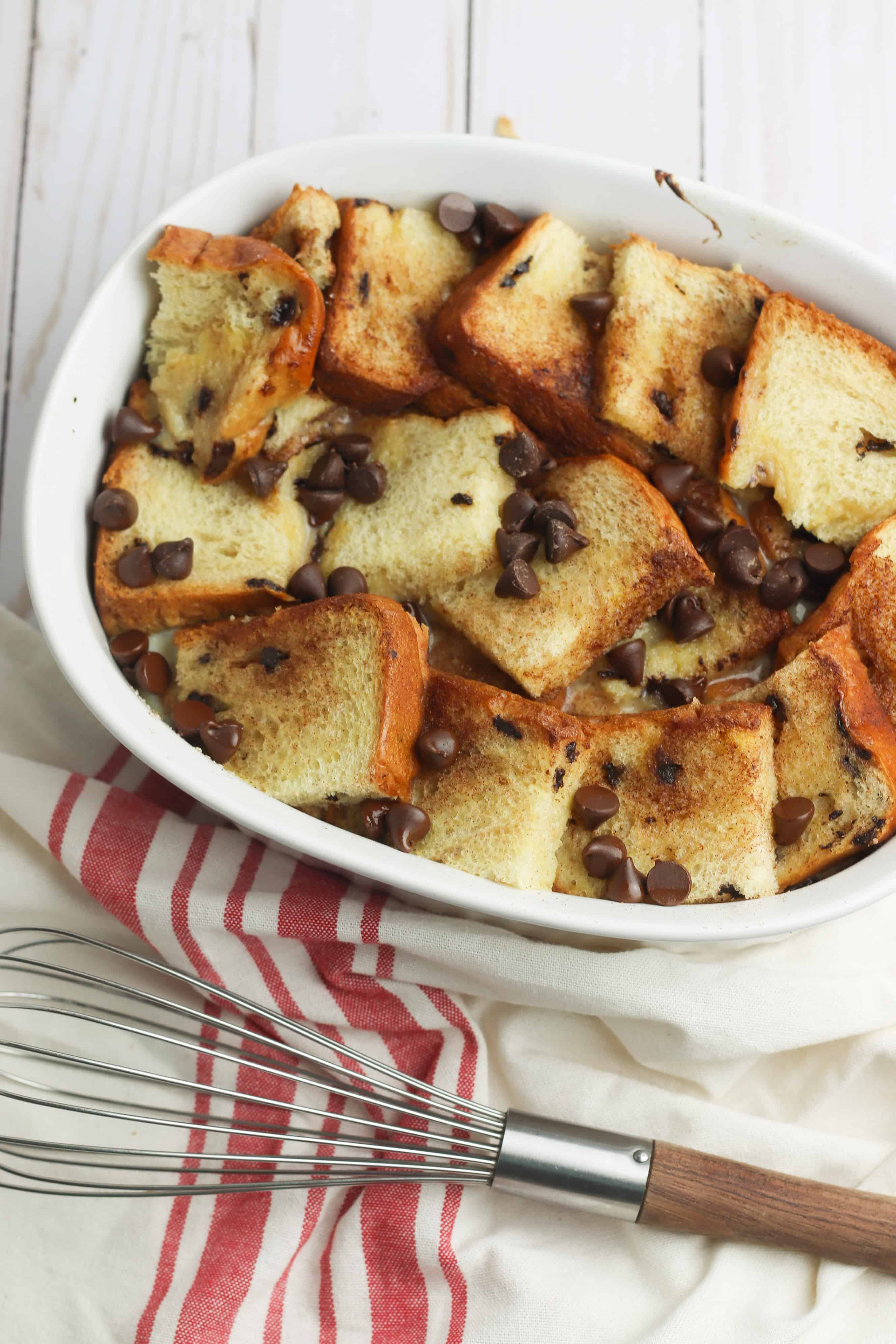 Easy Chocolate Chip French Toast Bake 4