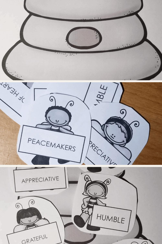 Free Printable Beatitudes Craft for Kids 1