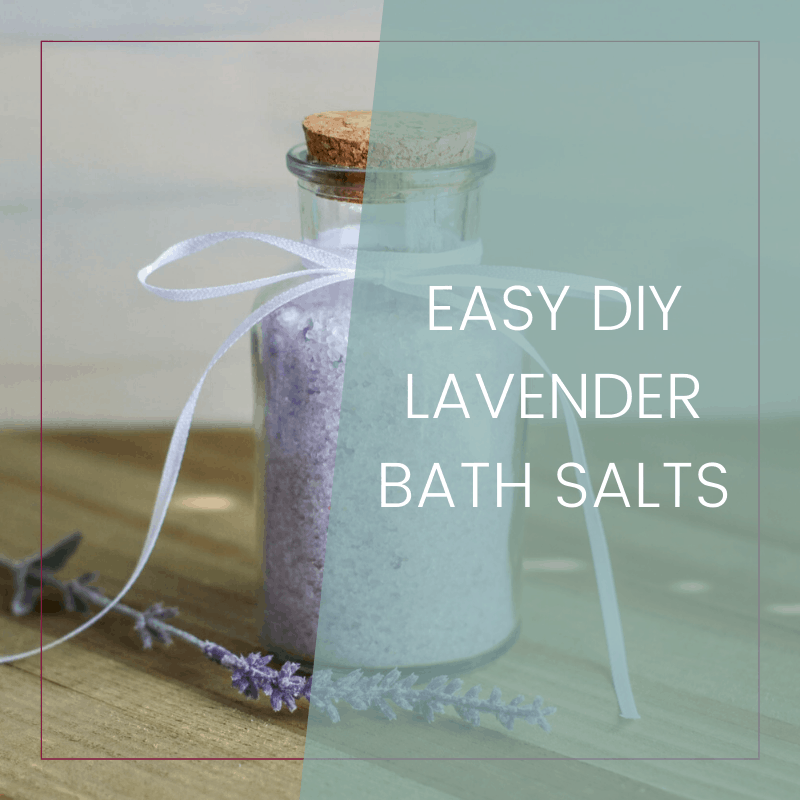 Easy DIY Lavender Bath Salts {Christmas Gift Idea}