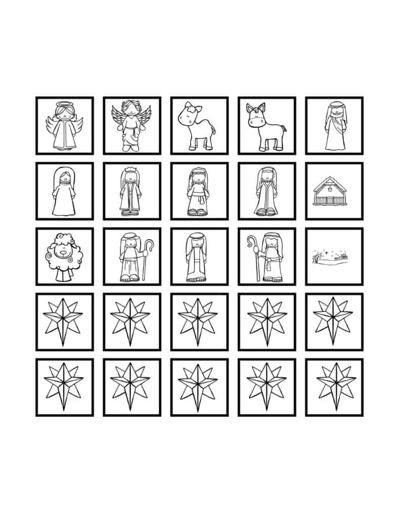 Free Printable Christmas or Advent Countdown Calendars for Kids 3