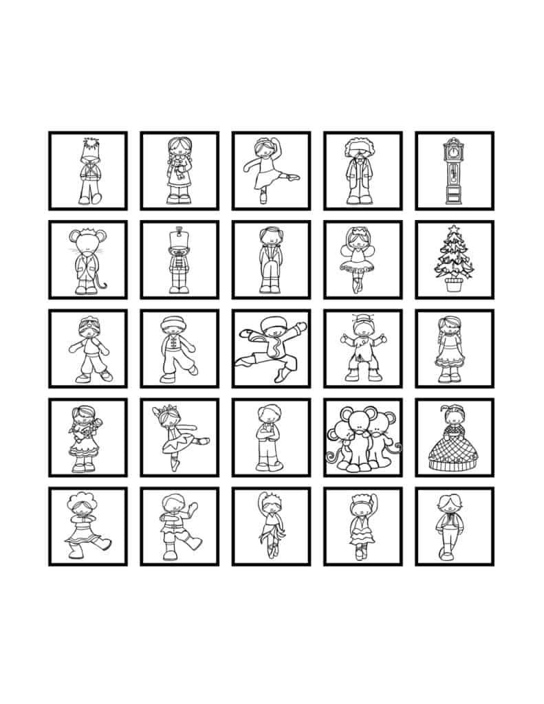 Free Printable Christmas or Advent Countdown Calendars for Kids 4