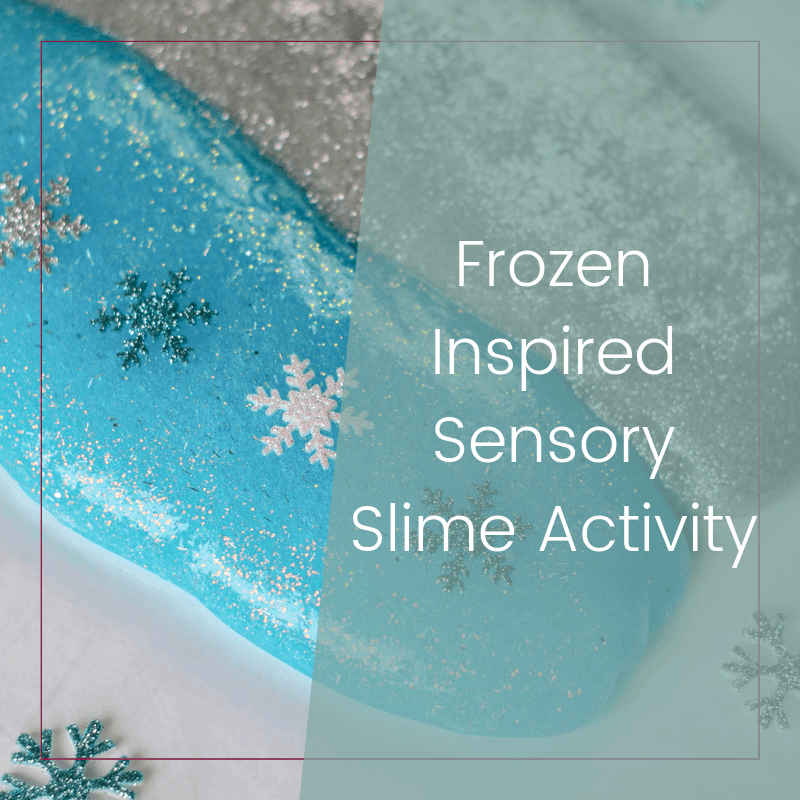 Sensory Friendly Frozen Themed Slime Activity