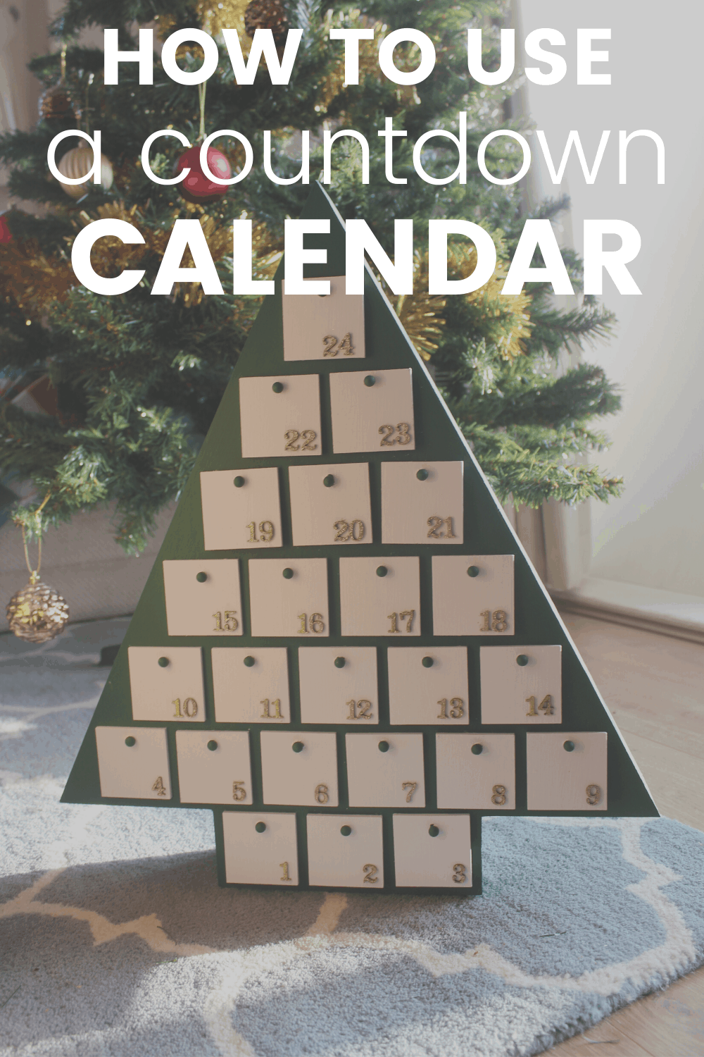 How to Customize and Use Your Wooden Tree Advent Calendar 1