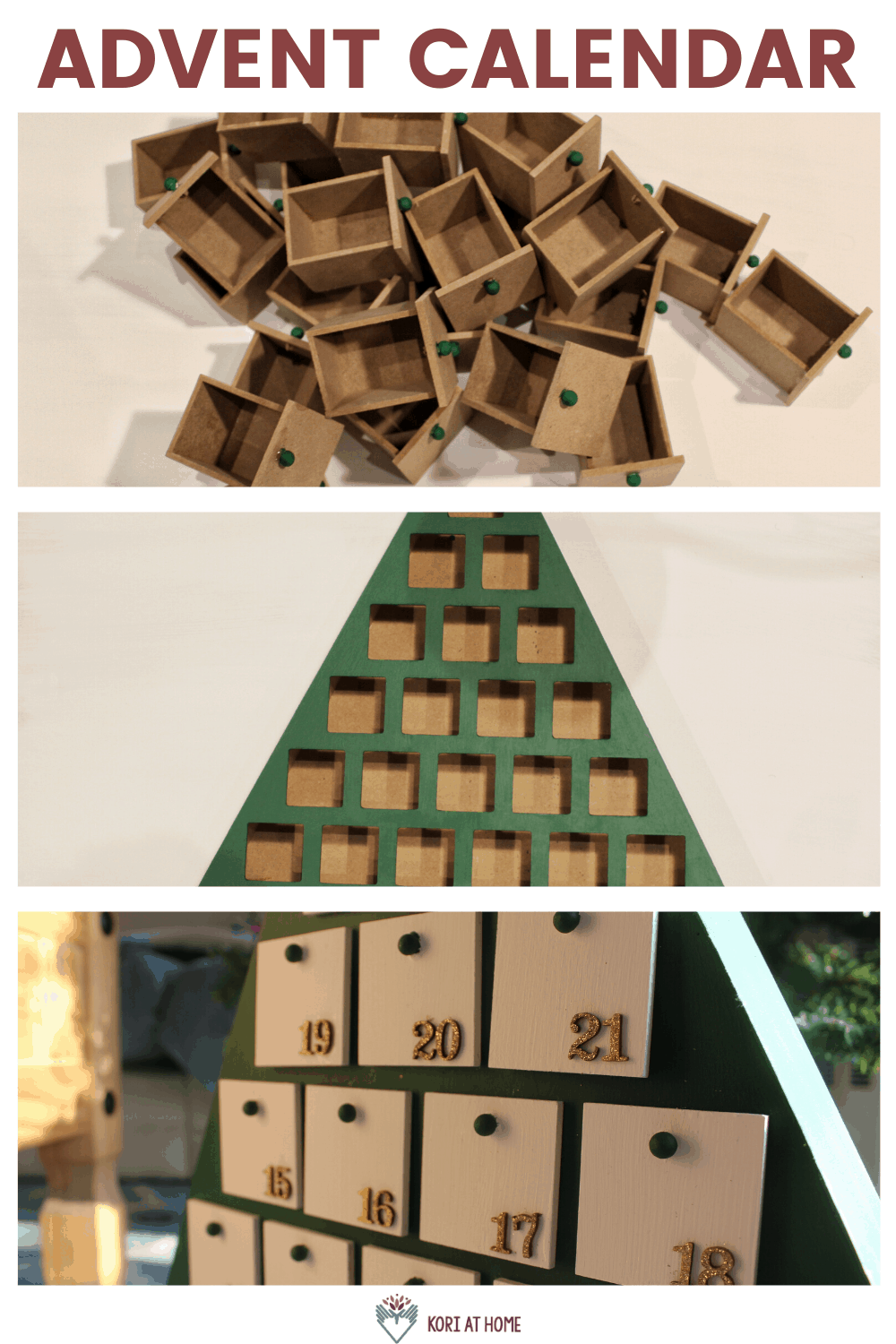 How to Customize and Use Your Wooden Tree Advent Calendar 2