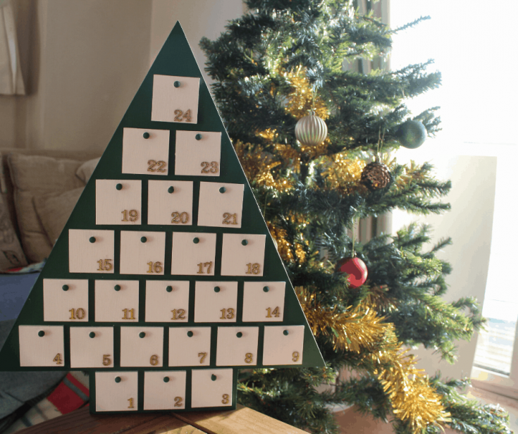 How to Customize a Wooden Tree Advent Calendar