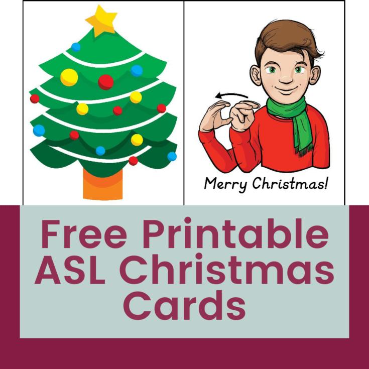 Free Printable American Sign Language Christmas Cards 1