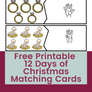 Free 12 Days of Christmas Matching Puzzles with ASL Numbers 7