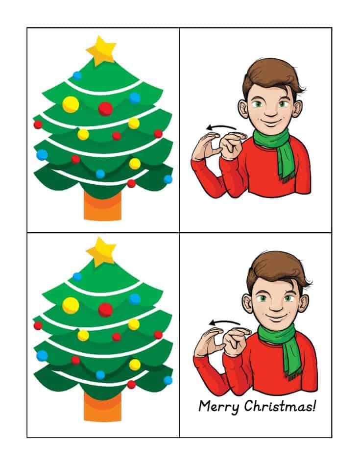 Free Printable American Sign Language Christmas Cards 2