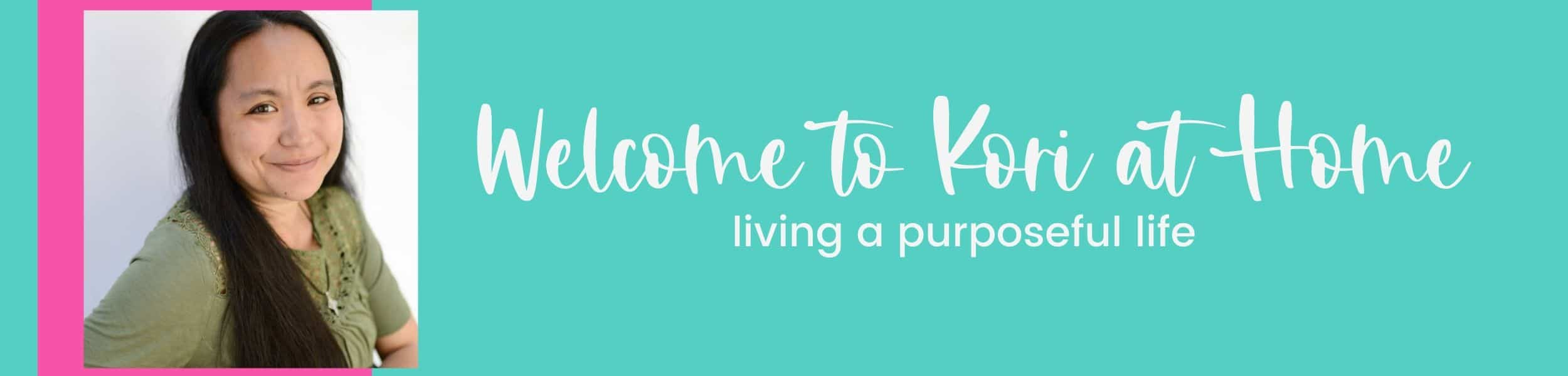 kori at home living a purposeful life