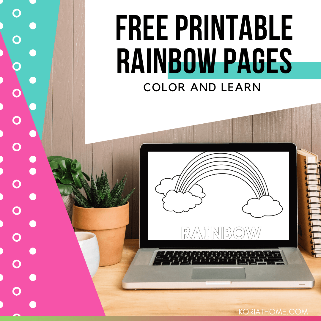 Simple Rainbow Printable Pack for Kids 1