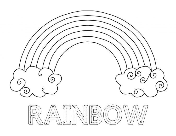 Simple Rainbow Printable Pack for Kids 5