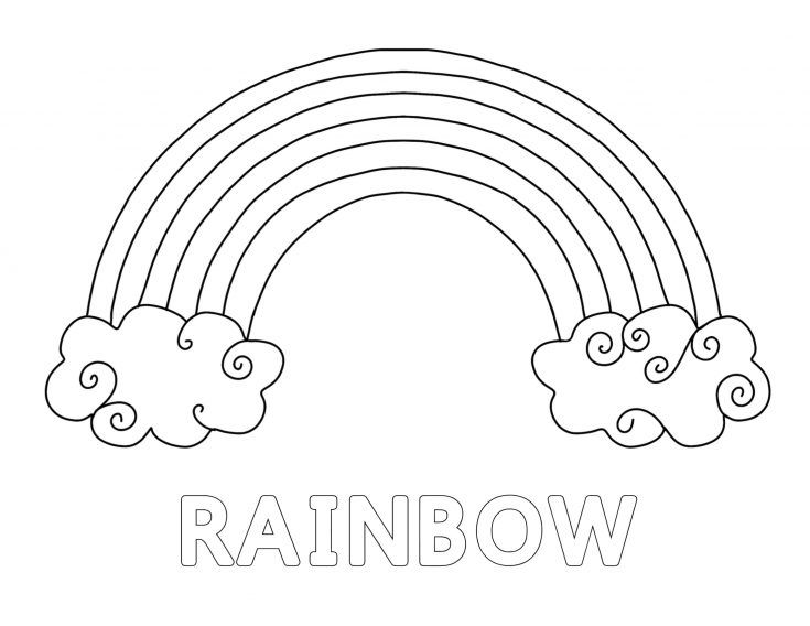 Simple Rainbow Printable Pack for Kids 6