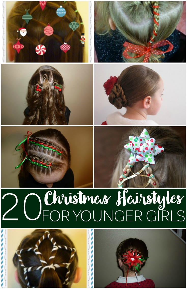 Christmas Hairstyles Easy.Christmas Hairstyles For Younger Girls