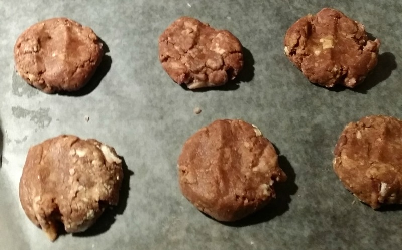 peanut butter nutella and bacon cookies pre bake