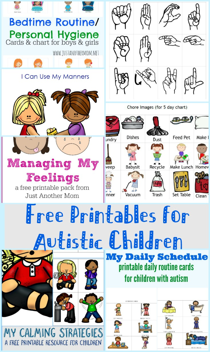 in need of some visual aids for your autistic child check out this list of - Children Printables