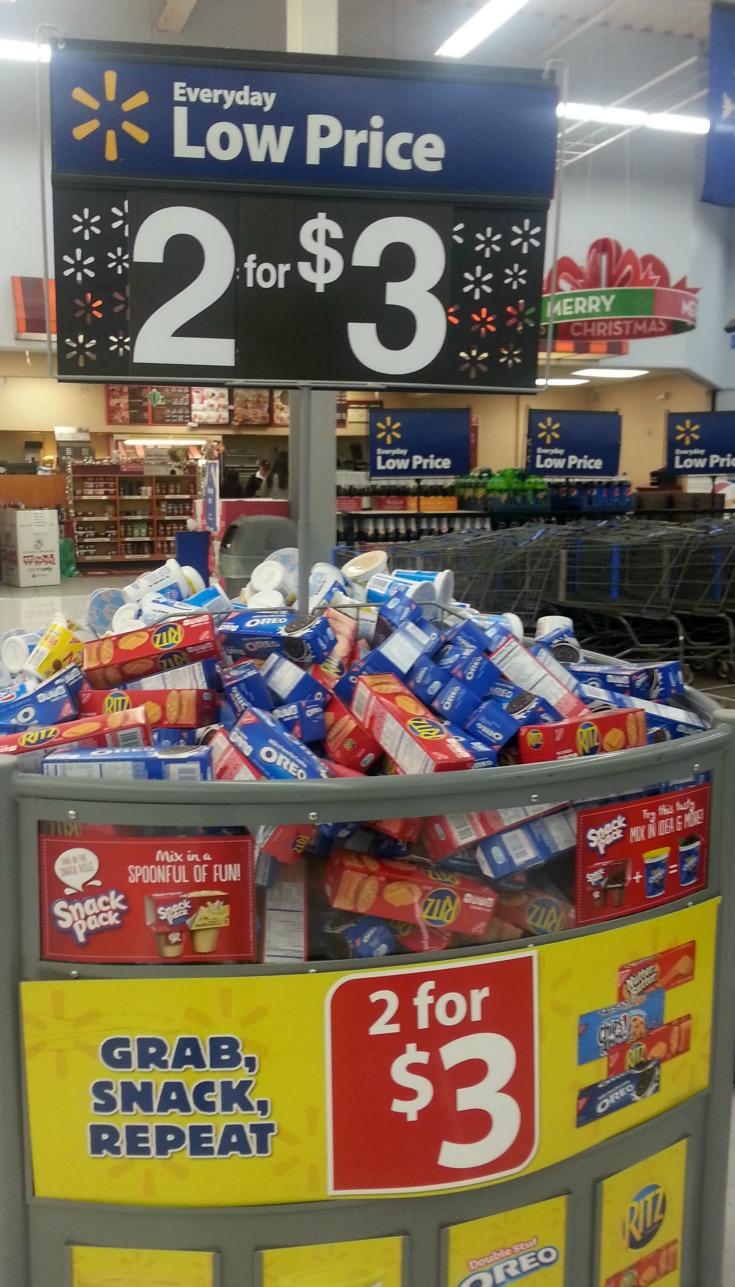 snack bin at Walmart